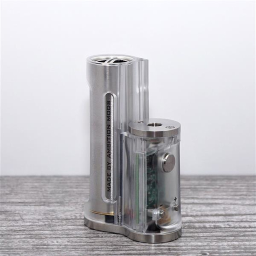 Ambition Mods Easy Side Box Akkuträger Clear Polished